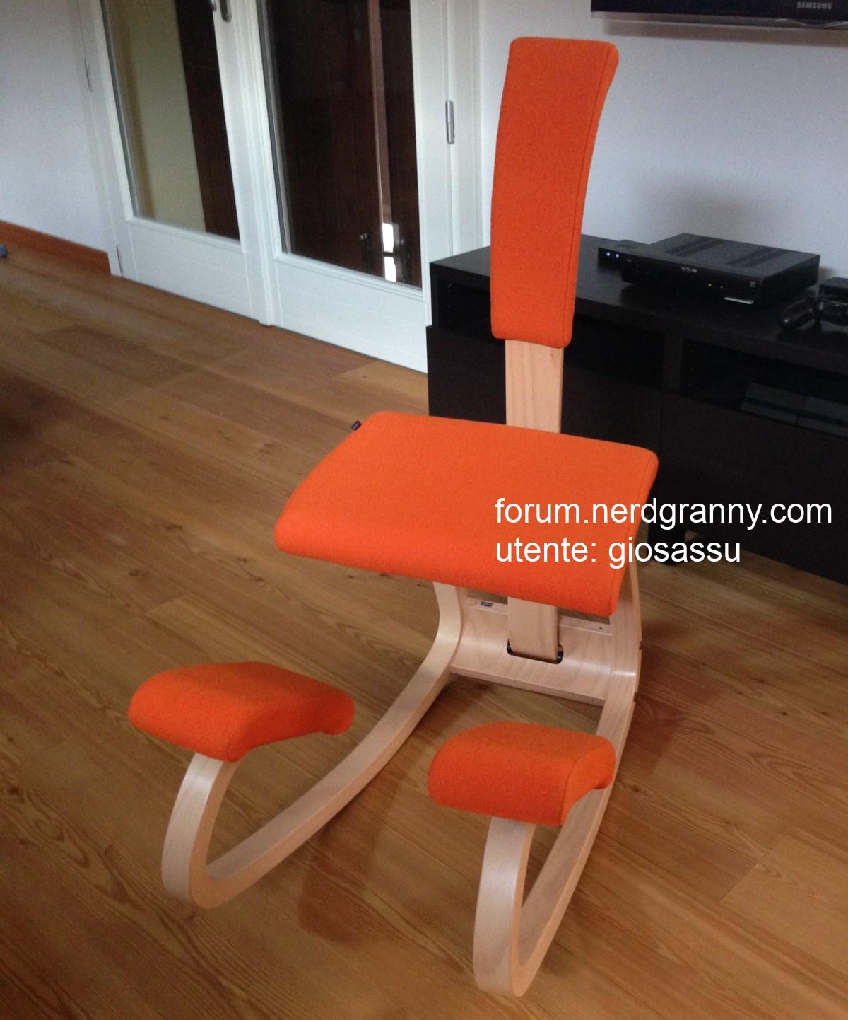 variable usata arancione con schienale